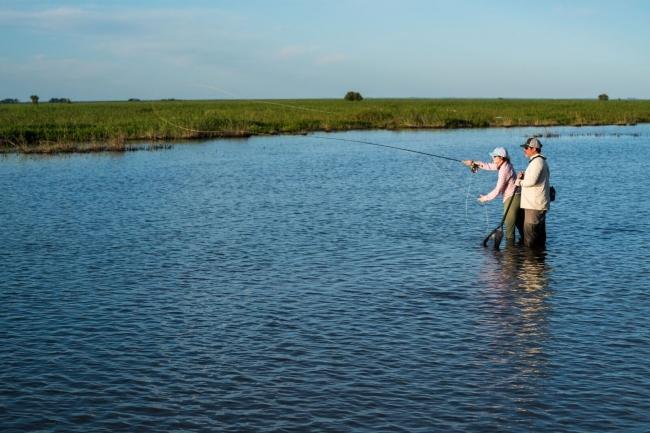 Pesca en el Río Paraná abordo del Golden Dorado River Cruiser