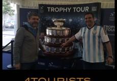 Pasajeros 4tourists con la copa davis 2019